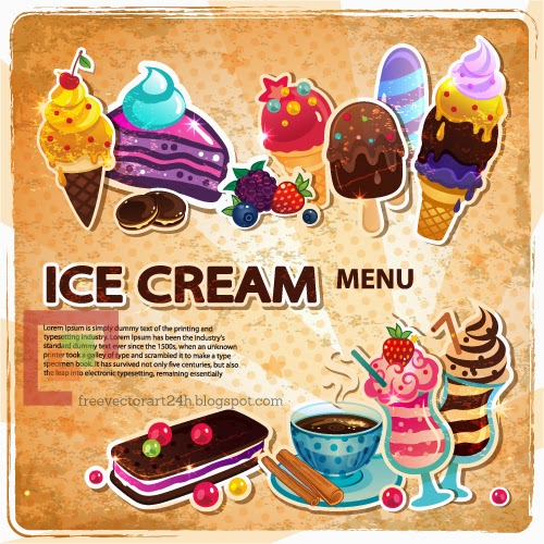 [Vector] Ice cream menu