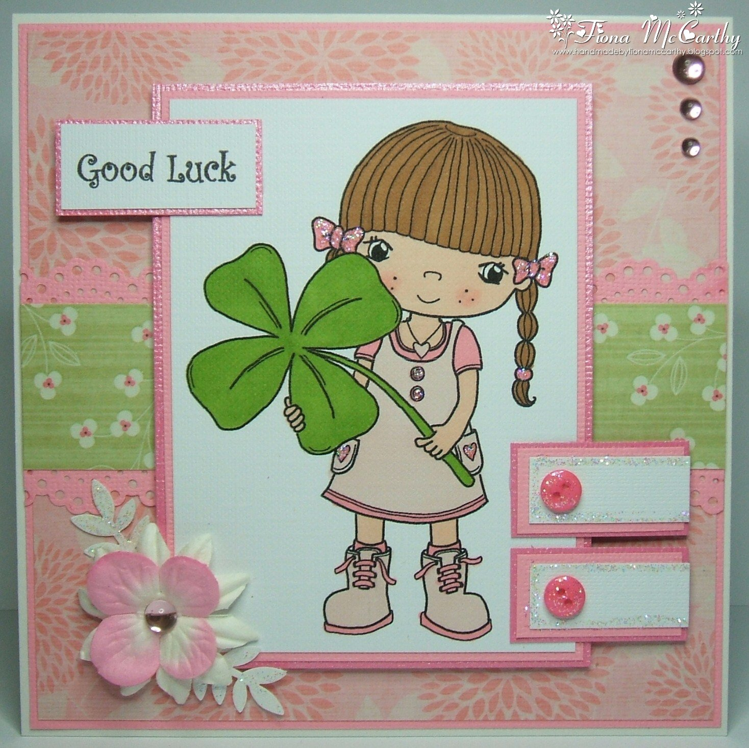 Handmade by Fiona McCarthy Good Luck Card – Good Luck Cards to Print