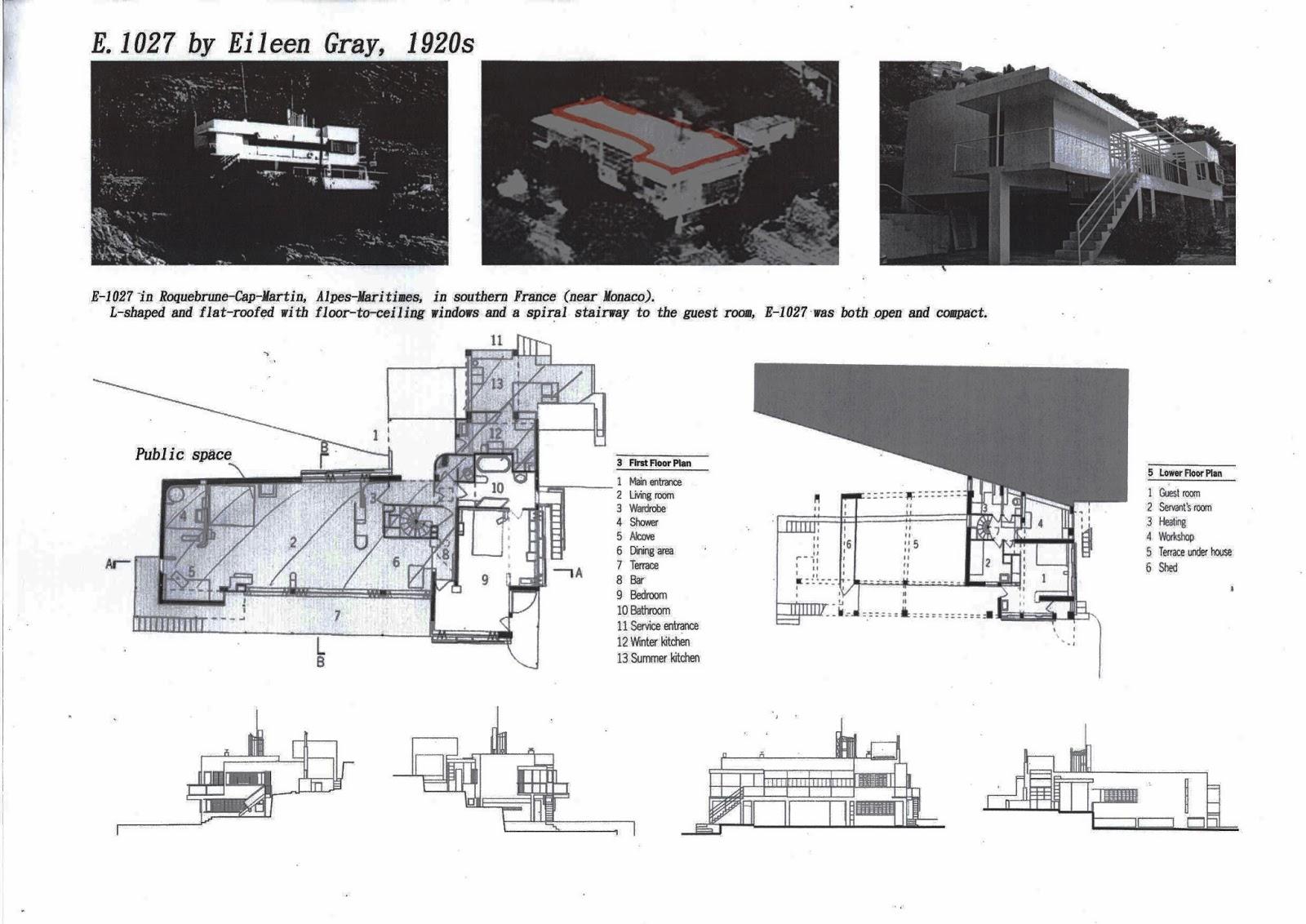 Eileen Gray E 1027 soya s villa e 1027 by eileen gray
