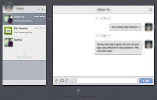 Mulai chat di web wechat