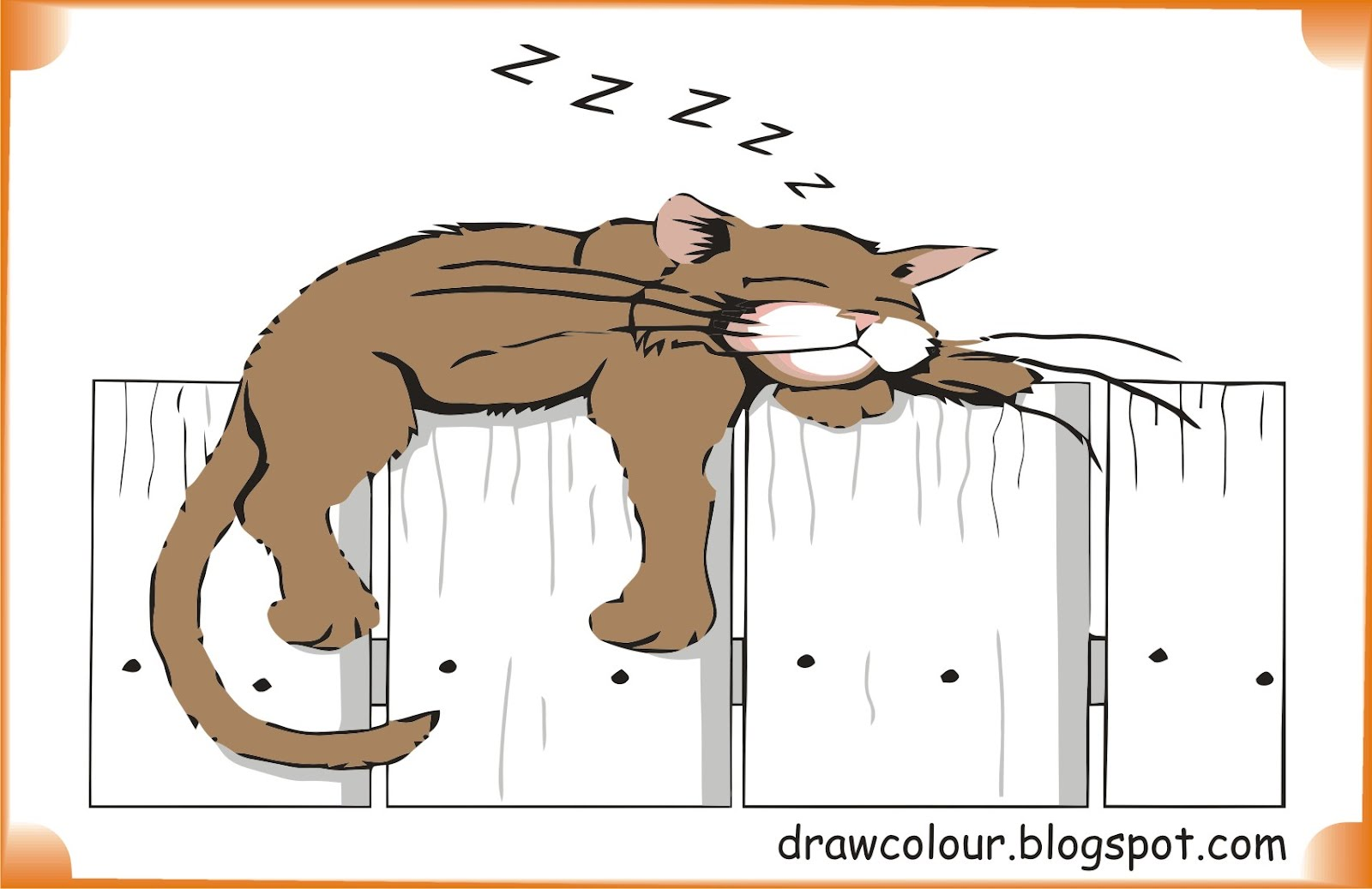 lazy-cat-coloring-pages