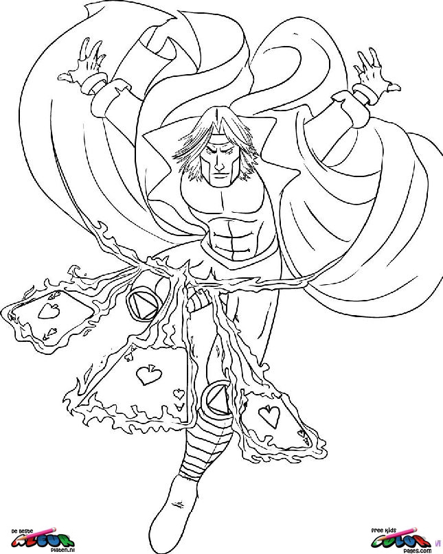 Gambit Coloring Pages