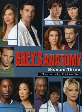 Greys Anatomy - A Anatomia de Grey  3ª Temporada Completa Séries Torrent Download capa