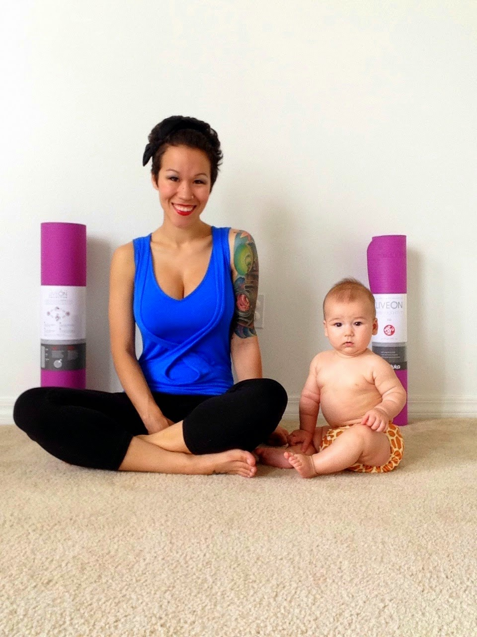 Diary Of A Fit Mommy Manduka Liveon Mommy Amp Me Yoga Mat