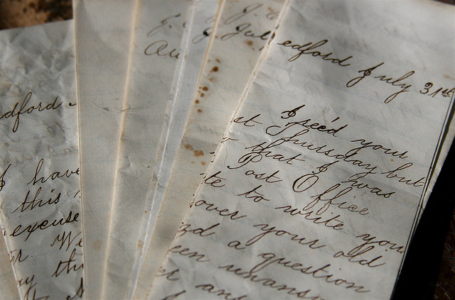 beautiful handwriting from the 1860s