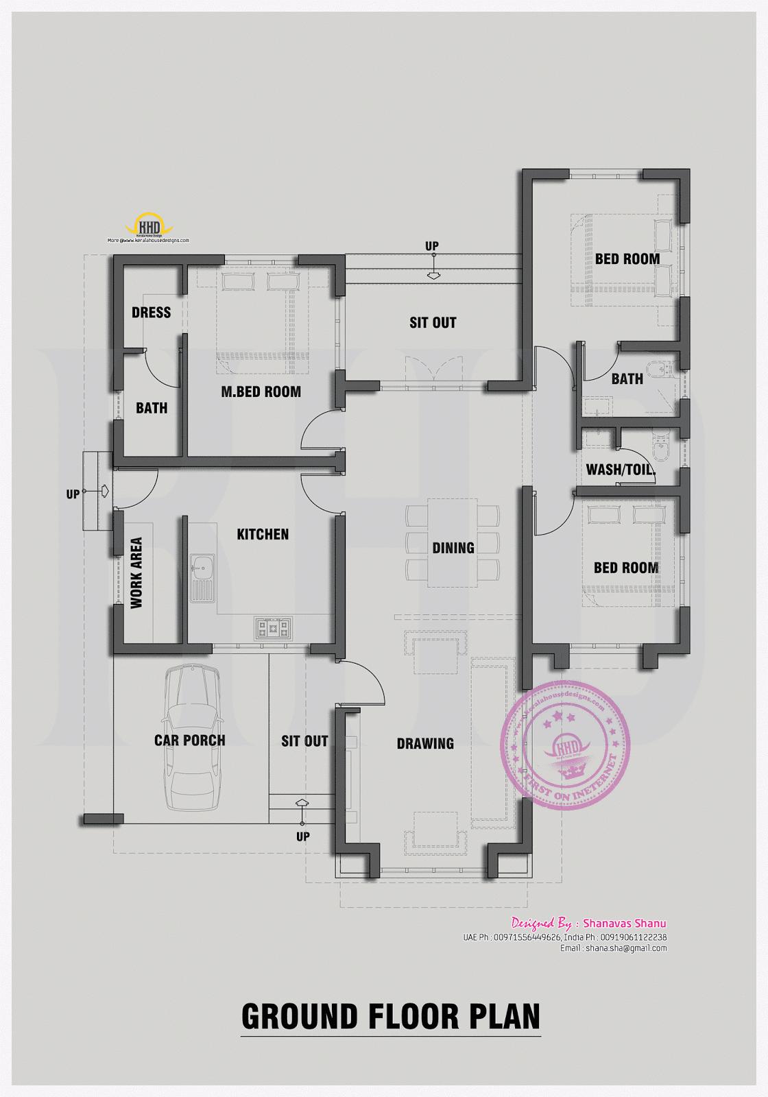House plan for common man kerala home design and floor plans for Common house plans