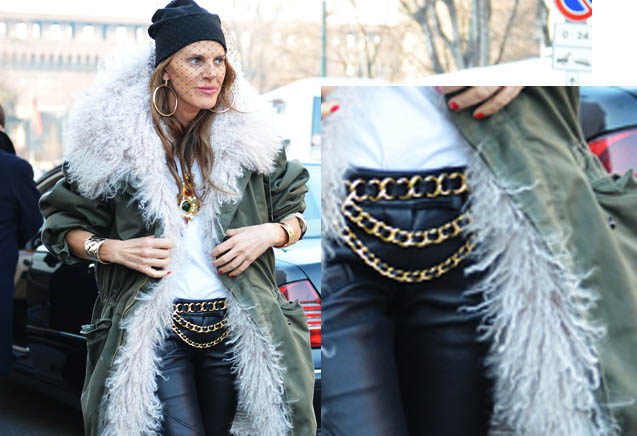 anna dello russo, fashion week,men fashion week A/W 2012, chain belt diy,fashion diy