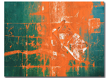 abstract, canvas art, wall art, green, orange, white, blue, contemporary,