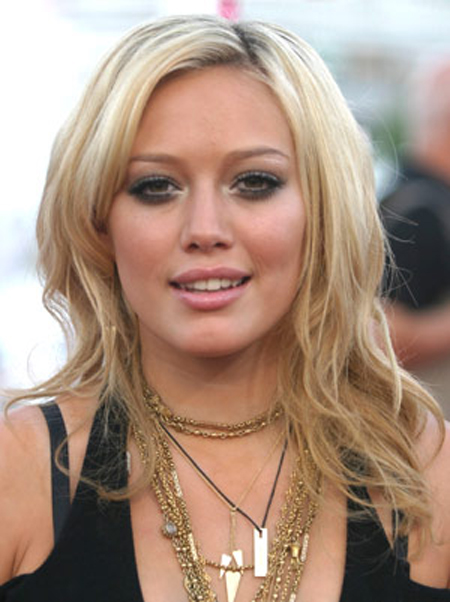 Hilary Duff with Wind Blown Wisps Hairstyle