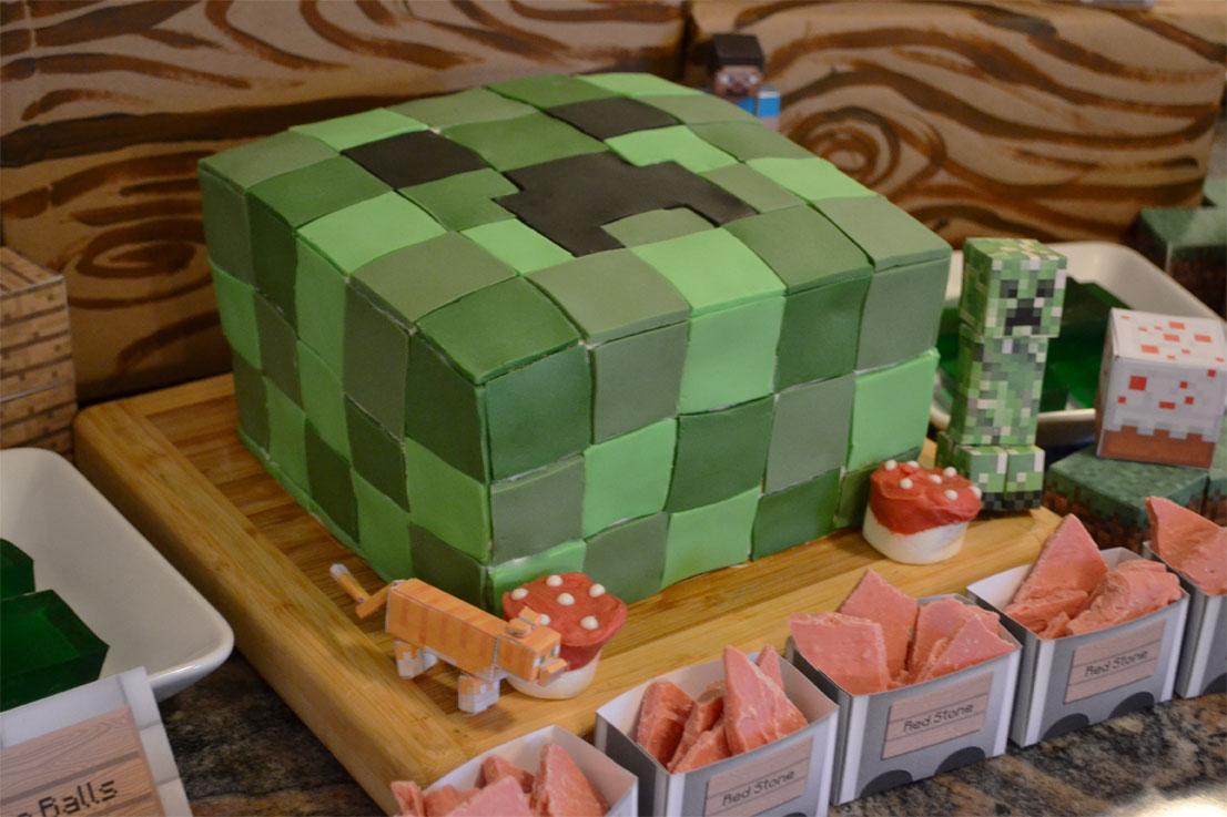 Geek Art Gallery Sweets Minecraft Birthday Cake