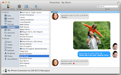 backup ios contacts messages notes and photos to computer for mac users