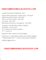 Dhi Johor Pengerang Kerja Kosong