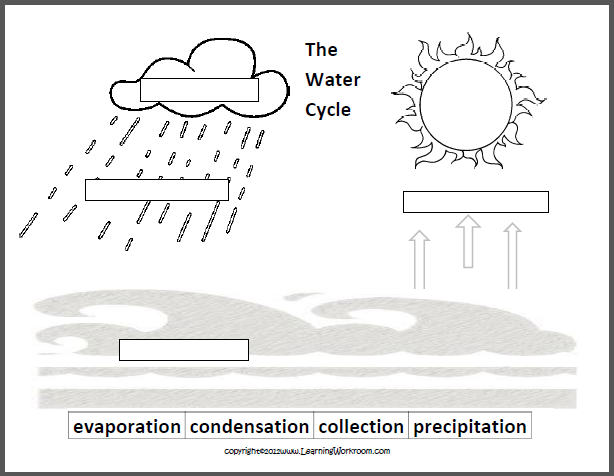 Free Water Cycle Diagram Blank Free free download water cycle