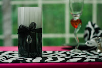Black, white and fuchsia wedding colors  -  Posted by Patricia Stimac, Seattle Wedding Officiant