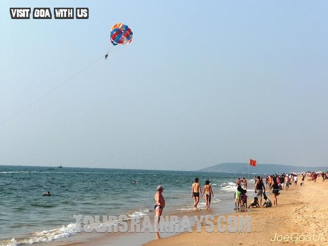 Calangute Beach Tourist Goa India. India Tour Operator, India travel agent, Indian Holiday Planner