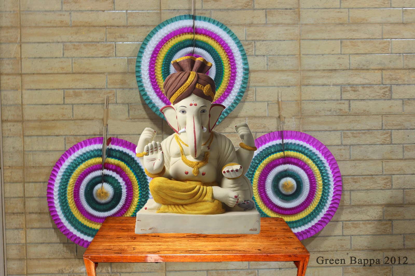 green bappa campaign ganesha decoration ideas 1
