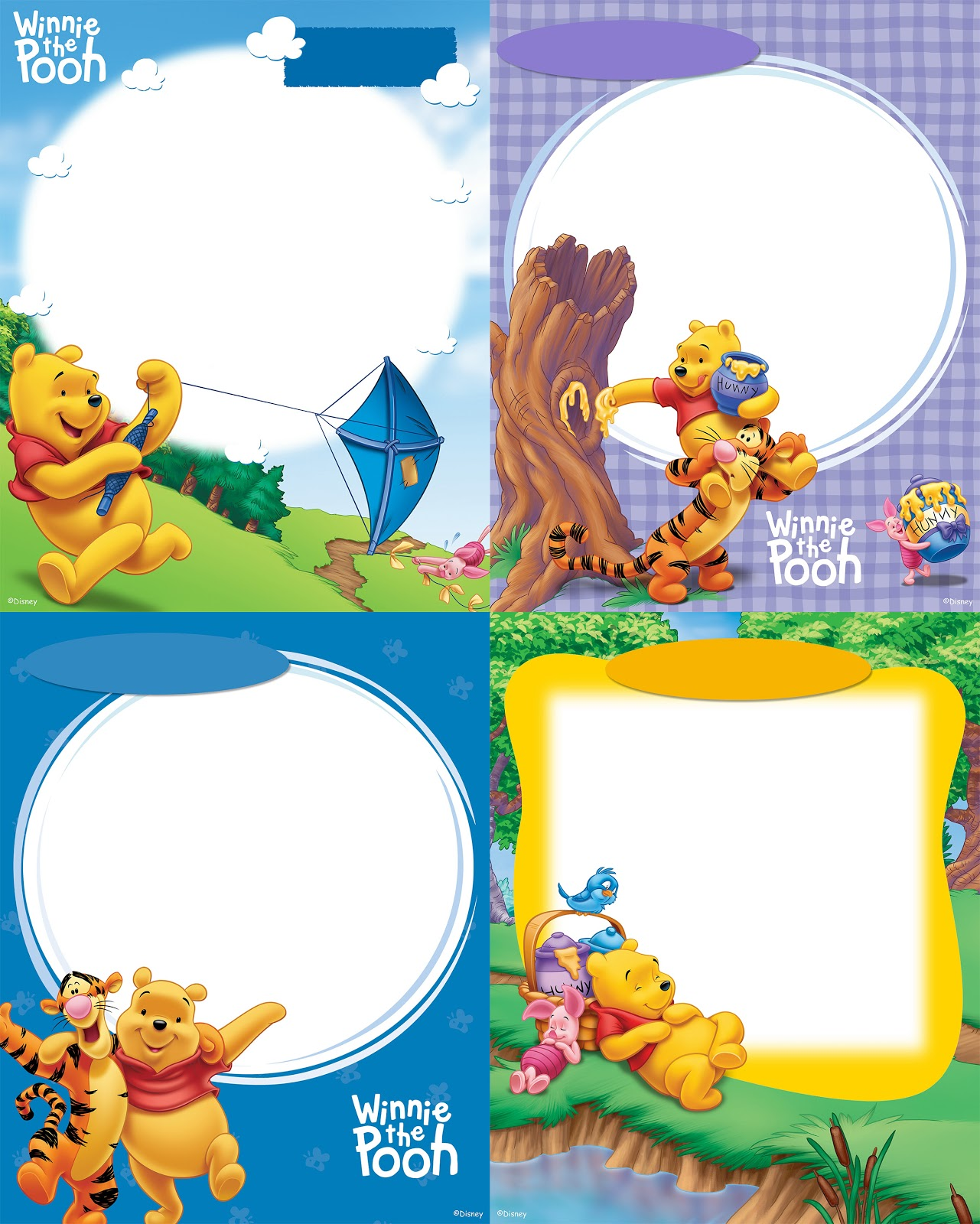 MARCOS WINNIE THE POOH - MARCOS INFANTILES PHOTOSHOP