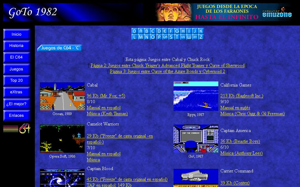 Página web Goto 1982