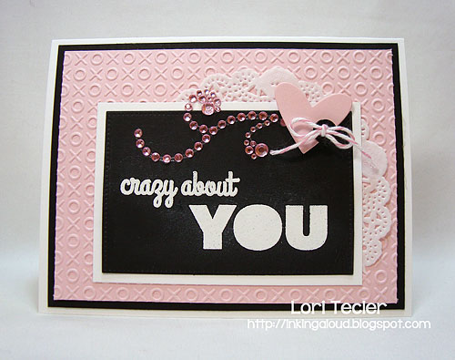 Crazy about You-designed by Lori Tecler-Inking Aloud-stamps and dies from My Favorite Things