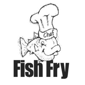 Line Drawing :: Clip Art :: Fish Fry Chef