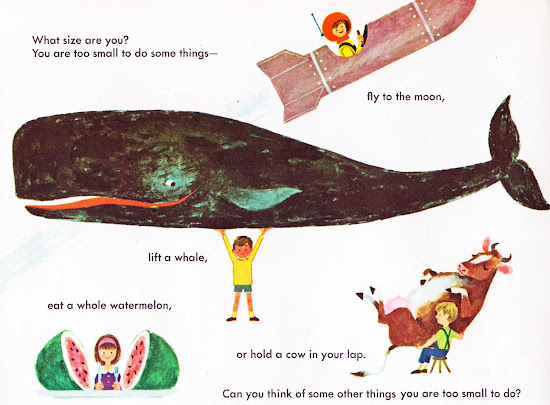 Vintage Kids' Books My Kid Loves: Learning about Sizes