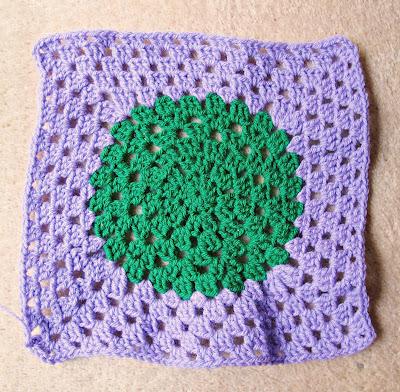 image crazy granny square circle in square crochet