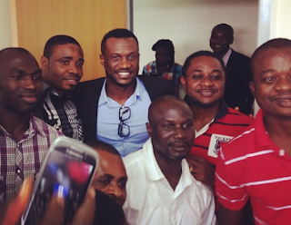 Exciting ; Peter Okoye gives lecture on entreprenuership to CBN staff