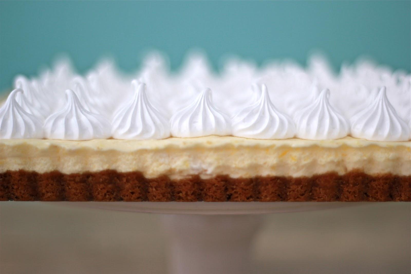 Jenny steffens hobick lemon mousse meringue tart spring for Lemon meringue pie with graham cracker crust