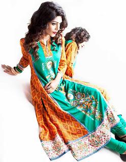 Latest Eid summer lawn dresses 2013 by Nimsay