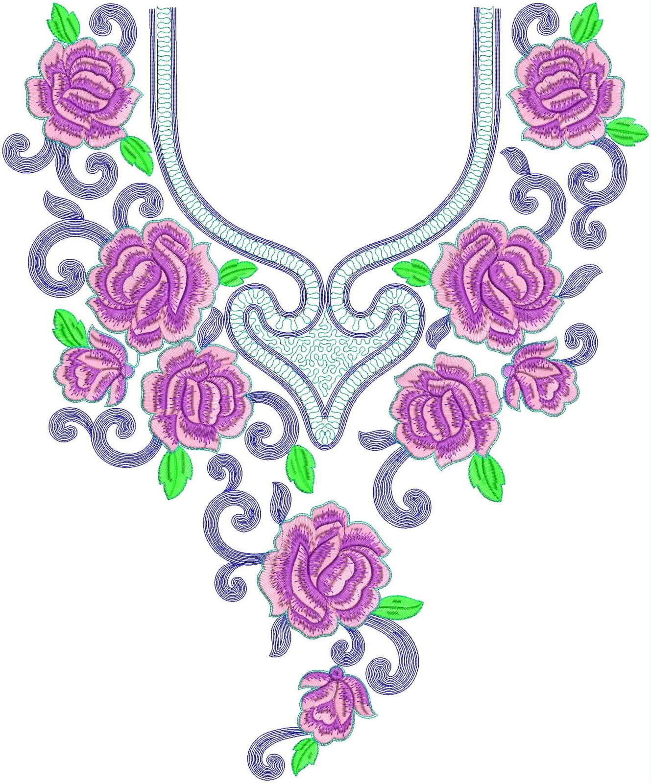 Embdesigntube hot collection of neck embroidery design