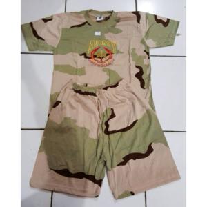 Baju Stelan Anak Pendek Loreng Gurun