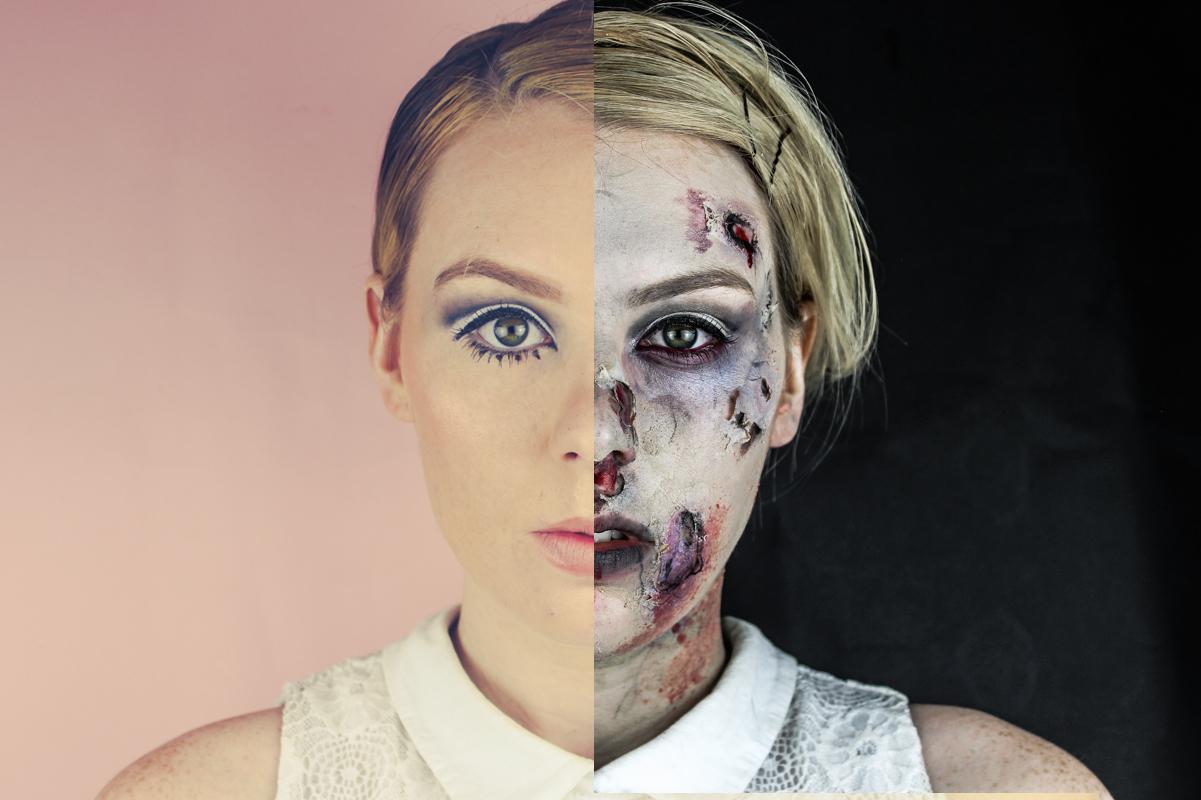 60s twiggy to zombie halloween transformation | the goodowl | uk