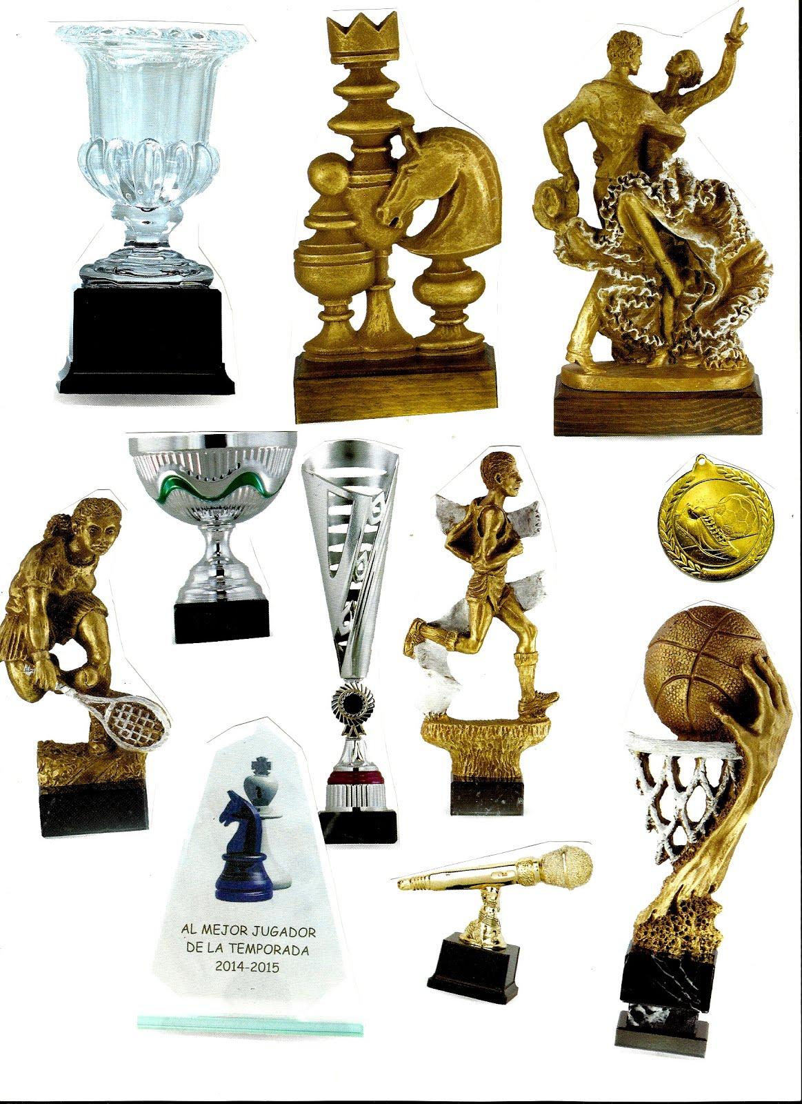 Amplio catálogo de trofeos
