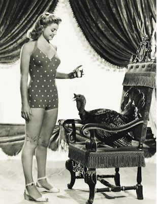 Esther Williams with turkey