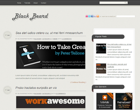 Blackbeard Blogger Theme