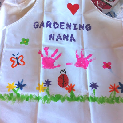 Handprint Gardening Apron for Nana