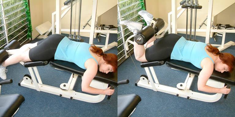lying leg curl without machine