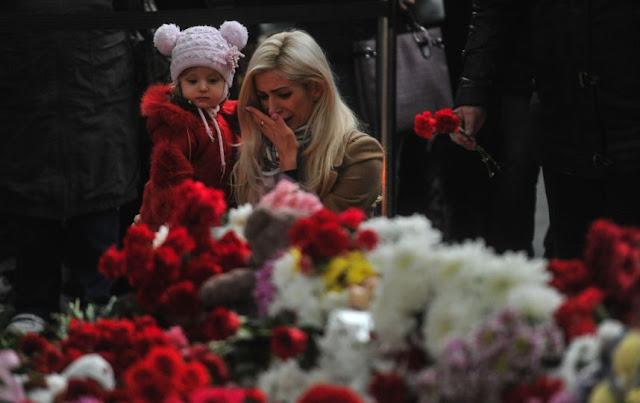 Россияне оплакивают погибших рейса 9268