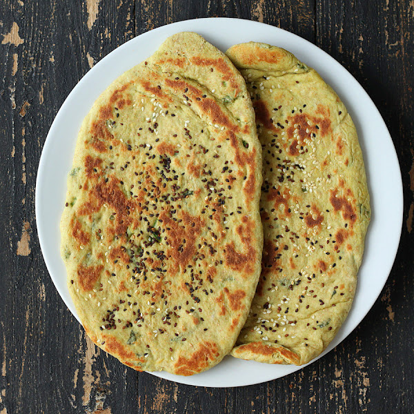Oil-free Avocado Naan