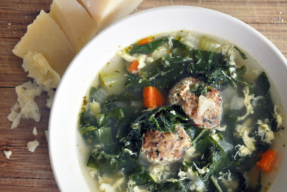 Meatless Monday Recipe Inspiration: Sachs Italian wedding soup with kale