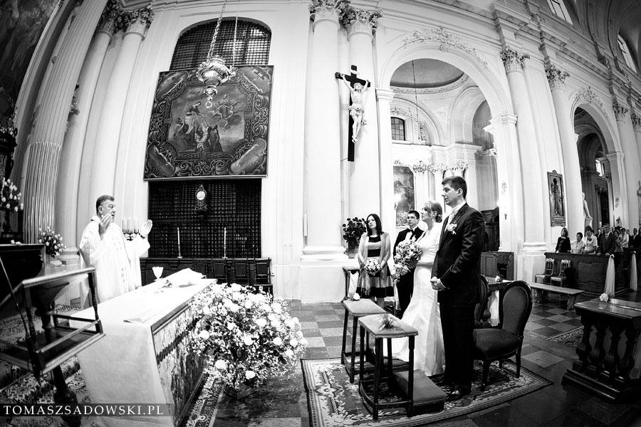ślub w Kościele Wizytek