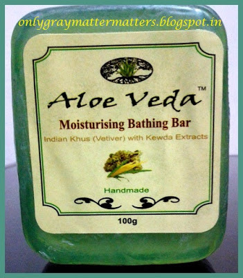 Aloe Veda Indian Khus (Vetiver) with Kewda Extracts Moisturising Bathing Bar Review