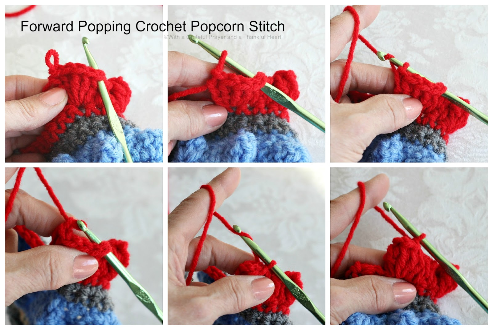 Insert Hook Through The Dropped Loop; Yarn Over And Pull Through The Stitch  Chain 1* One Forwardpopping Popcornplete