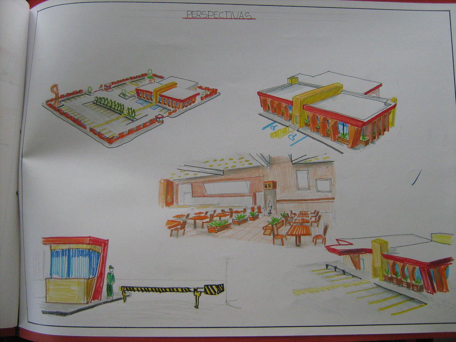 Mi portafolio de arquitectura usac ejercicio 3 restaurante for Programa diseno exteriores