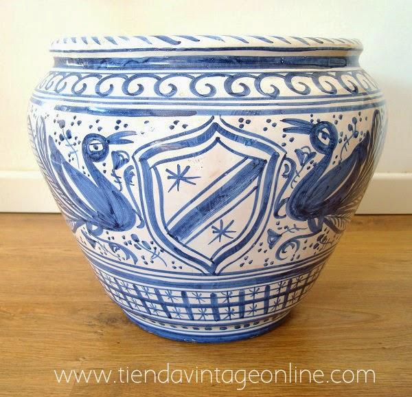 Comprar macetero, tiesto, jarrón, de ceramica valenciana antigua