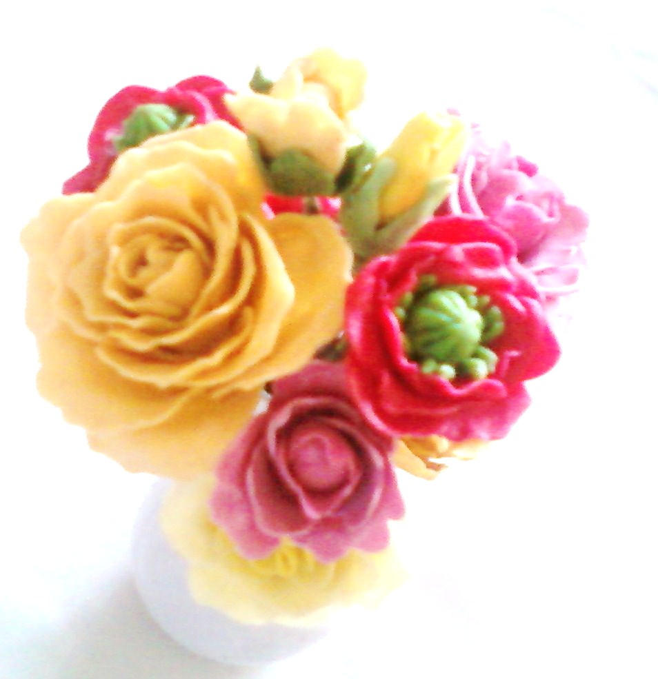 how to make air dry clay flowers