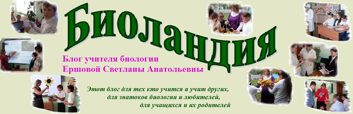 Персональный блог учителя биологии Ершовой Светланы Анатольевны