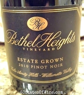 Bethel Heights Vineyard 2010 Estate Grown Pinot Noir