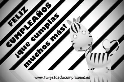 Feliz Cumpleaños Zebra
