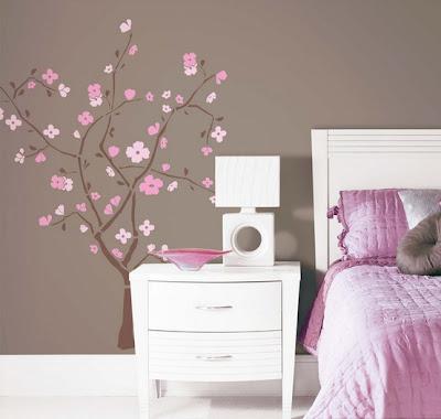 Via decorar tu habitaci n for Pegatinas pared nina